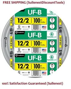 Southwire Electrical Wire Cu Uf b W g 100 Ft 12 2 Lamp Posts Pumps Underground