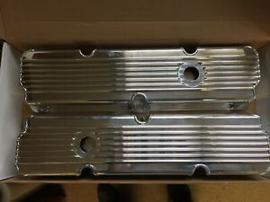 Ford Fe Fabricated Tall Finned Alumnium Valve Covers 1 4 Billet Rail 360 390 428