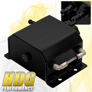 Performance 1 Liter Black Radiator Coolant Overflow Bottle Recovery Water Tank