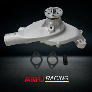 High Volume Satin Aluminum Short Water Pump Fit Big Block Chevy Bbc 396 427 454
