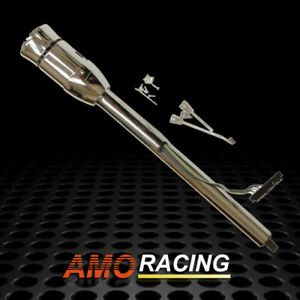 Chrome 32 Manual Steering Column Tilt W Adapter No Key Gm Hot Rod New