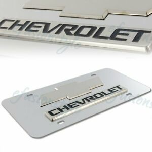 Authentic Chevrolet 3d Mirror Stainless Steel Front License Plate Frame Chrome