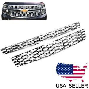 For 2015 16 17 18 19 Chevy Tahoe Suburban Ls Lt Chrome Grille Overlay Covers