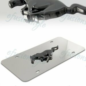 Authentic 3d Ford Mustang Logo Front Mirror Stainless Steel License Plate Frame
