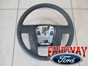 11 Thru 14 F 150 Oem Ford Urethane Steering Wheel W Switches Cruise Sync New