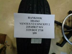 1 New Hankook Ventus V2 Concept 2 215 45 17 91v Tire Wo Label 1014363 Q9