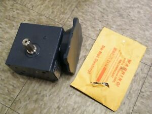 Hub City Gear Reducer 0220 76836 Right Angle Worm Reducer Drive 56c 10 1 184
