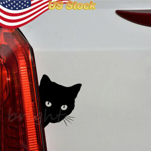 Sticker Black Cat Face Peering Funny Car Decal Window Truck Auto Bumper Laptop