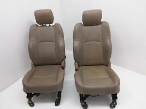 09 11 Ram 1500 Driver Passenger Front Bucket Seat Set Electric Memory Leather