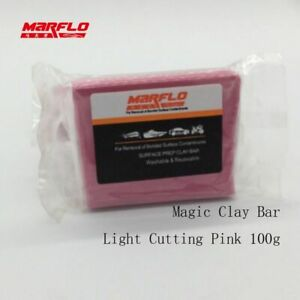 Magic Clay Bar Light Cutting Grade Pink 200g Auto Car Paint Care Cleaning 5 Pcs