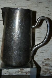 Antique Hotel Silver Serving Pitcher Dw Haber And Son New York Restaurant C1920