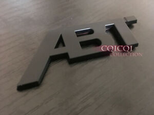 Matte Black Small Abt Emblem Sticker For Audi A1 A3 A4 A5 A6 A8 Tt Q3 Q5 Q7