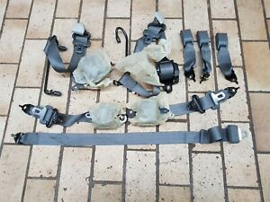 Set Front Back Grey Seat Belts Edm Oem Honda Civic Ej9 Ek3 Ek4 Ek9 96 00 Rare