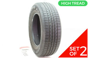 Set Of 2 Used 245 65r17 Toyo Open Country A20 105s 8 9 32