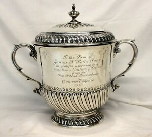 Chrichton Sterling Silver Presentation Urn W Lid 100 Years Service 1932