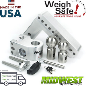 Weigh Safe 8 Drop Hitch W 2 2 5 16 Stainless Steel Balls And 2 5 Shaft