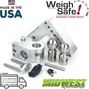 Weigh Safe 6 Drop Hitch W 2 2 5 16 Stainless Steel Balls 2 5 Shaft Size