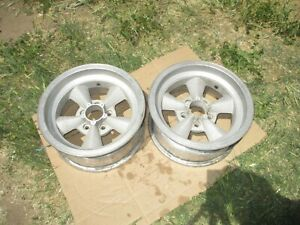 15x7 Appliance Torq Thrust Mag Wheels Rims 5x4 5 Ford Mopar Pair A