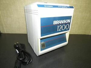 Branson 1200 Small Benchtop Ultrasonic Cleaner B 1200r 1 Tested
