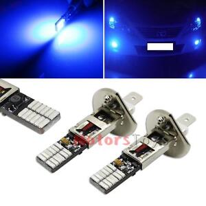 2x Ultra Blue 24 Smd 4014 H1 Led Replacement Bulbs For Fog Lights Driving Drl