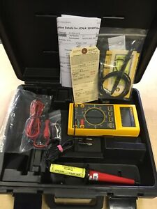 Fluke Yellow 27 Fm 85rf 80k 6 Hv Probe Leads Excellent
