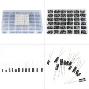 990pcs 10v 50v 36 Values 0 1uf To 1000uf Electrolytic Capacitor Assortment Kit