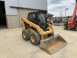 2017 Cat 236d Skid Steer Loader Cab W Heat Hyd Quick Attach Caterpillar