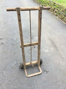 Antique Wooden Dolly Hand Cart Hand Truck Works Good Local Pickup Only