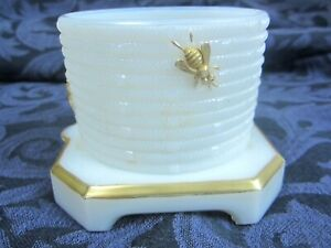 Antique Porcelain Sugar Bowl With Gold Trim Gold Bees