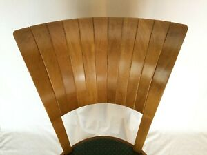 Ello Costantini Natural Wood Fly Chair Hunter Green Cushion Vg Condition