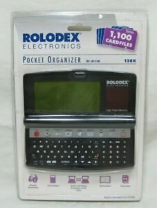 Rolodex Desktop Organizer Electronic File 128k Flash Memory Rf 31128 Card Files