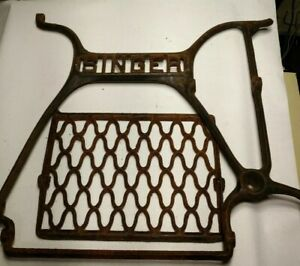 Vintage Singer Treadle Sewing Machine Cast Iron Base Table Legs Industrial Age