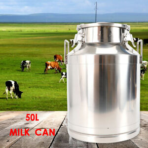 13 25gallon 50l Stainless Steel Milk Can Boiler Tote Jug Milk Container Storage