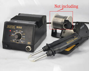 220v Aoyue 950 Adjustable Temperature Hot Air Rework Station Solder Iron