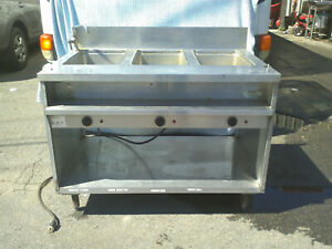 Randell 3613m Commercial 3 Well Steam Table With Metal Undershelf