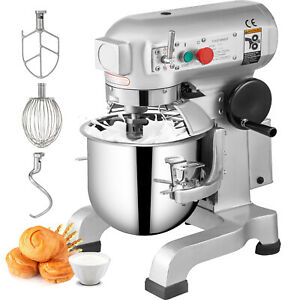 20qt Electric Food Stand Mixer Dough Mixer Splash Guard Kitchen With 3 Speed