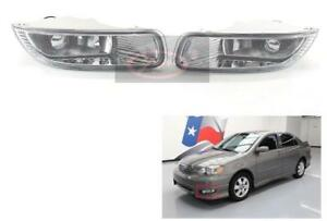 Front Driving Fog Lights Lamps With Clear Lens For Toyota Corolla 2003 2004