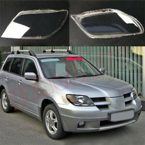 2003 2005 For Mitsubishi Outlander Left Front Right Front Headlight Lens Cover