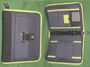 Compact 1 0 Blue Green Nylon Franklin Covey Planner Binder Sport