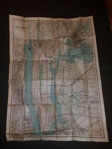 1927 Vest Pocket Map Of New York City Rand Mcnally Color Subway Map Antique