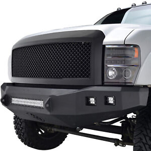 Full Upper Packaged Grill Front Hood Replacement Grille For 08 10 Ford F250