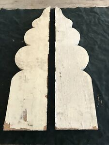 Antique Corbels Finials Architectural Salvage Victorian Wood 1800s Gingerbread