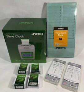 Upunch Electronic Calculating Time Clock Punch Card Hn3000 Brand New W keys