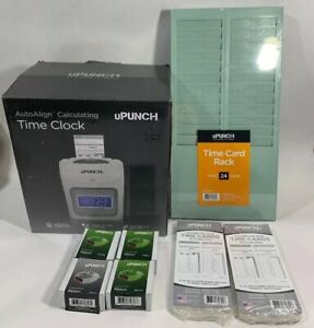 Upunch Electronic Calculating Auto align Punch Card Time Clock Hn4000 W keys