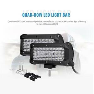 7 Car Auto Quad Row Cree Led Light Bar Spot Work Pods For Jeep Grand Cherokee
