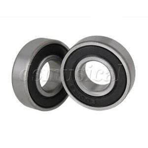 12x28x8mm Silver Deep Groove Sealed Shielded Ball Bearing 6001 2rs Pack Of 10