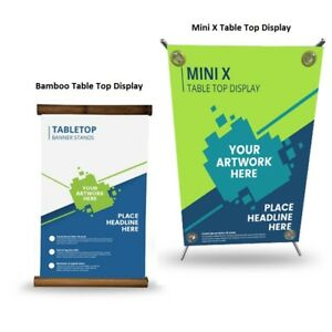 Table Top Display Stand Trade Show Display Counter Top Banner Stand