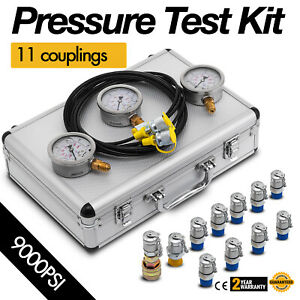 Excavator Hydraulic Pressure Test Kit 8700 Psi Active Demand Strong Packing