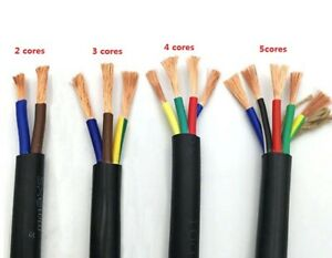 17 Awg 1mm Rvv 2 3 4 5 Cores Pins Copper Wire Conductor Electric Rvv Cable 5m
