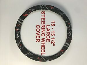 Camouflage Steering Wheel Covers Sirphis Wildfire Large 15 15 5